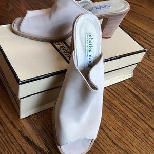 Charles David Nobuck Slide Sandals/Mules